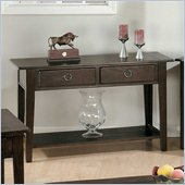 Jofran 081 Series Wood Sofa Table in Heirloom Oak