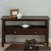 Jofran 251 Series Rectangle Wood Sofa Table with 2 Drawers and Shelf in Milton Cherry