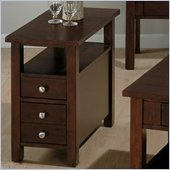Jofran 251 Series Wood Chairside Table in Milton Cherry