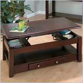 Jofran 280 Series Wood Lift-Top Coffee Table in Merlot