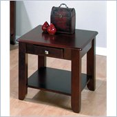 Jofran 280 Series Wood End Table in Espresso