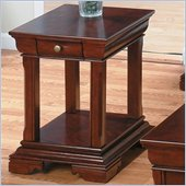Jofran 299 Series Miniature Wood End Table in Regal Cherry