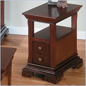 Jofran 299 Series Miniature Wood Chairside Table in Regal Cherry