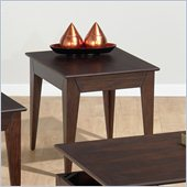 Jofran 401 Series Wood End Table in Albion Oak