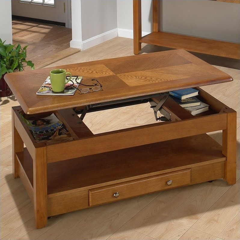 480 Series Wood Lift Top Cocktail Coffee Table In Oak 480 1