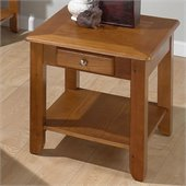 Jofran 480 Series Wood End Table in Oak
