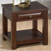 Jofran 484 Series Square Wood End Table in Ogden Oak