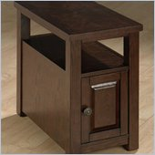 Jofran 484 Series Wood Chairside Table in Ogden Oak
