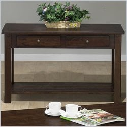 Jofran 951 Series Wood Sofa Table in Dark Rustic Prairie Finish