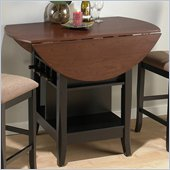 Jofran Counter Height Casual Dining Table in Black and Brunette Cherry Finish