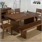 Jofran 5 Piece Dining Set in Braeburn Rough Hewn Cherry