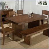 Jofran 6 Piece Dining Table Set in Braeburn Rough Hewn Cherry