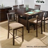 Jofran Counter Height Dining Table with Butterfly Leaf in Baker's Cherry