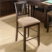 Jofran Counter Height Contemporary Slat Back Stool in Baker's Cherry (Set of 2)