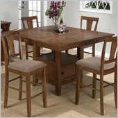 Jofran Counter Height Table Top with Butterfly Leaf in Saddle Brown Oak Finish