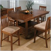 Jofran Counter Height Table with Butterfly Leaf in Saddle Brown Oak Finish