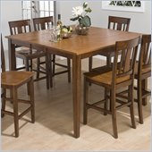 Jofran 7 Piece Counter Table Set in Kura Espresso and Canyon Gold