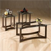 Jofran 3 Piece Glass Coffee Table and End Table Set