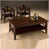 Jofran 3 Piece Coffee Table and End Tables Set in Cherry
