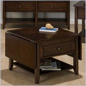 Jofran 354 Series Drop-Leaf Wood Coffee Table in Newport Cherry