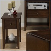 Jofran 354 Series Chairside Table in Newport Cherry