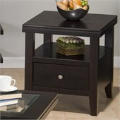 Jofran Marlon End Table With Wood Top in Wenge Finish