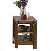 Jofran Chairside Table with 2 Shelves in Rustic Loft Finish