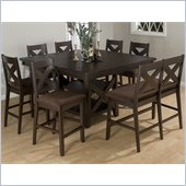 Jofran 453 Series 5 Piece Counter Height Dining Table Set in Espresso