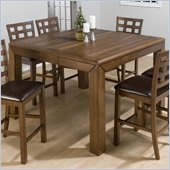 Jofran 737 Series Counter Height Dining Table in Walnut Finish