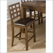 Jofran 737 Series Giga Counter Height Stool in Walnut (Set of 2)