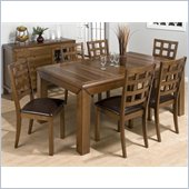 Jofran 737 Series 5 Piece Rectangular Dining Table Set in Walnut