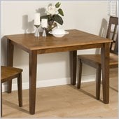 Jofran 875 Series Casual Dining Table in Kura Espresso and Canyon Gold
