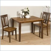Jofran 875 Series 3 Piece Casual Dining Table Set in Espresso and Gold