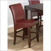 Jofran 888 Series Red Leather Counter Height Stool (Set of 2)
