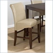 Jofran 888 Series Sandstone Leather Counter Height Stool (Set of 2)