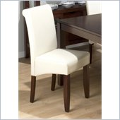 Jofran 888 Series Ivory Bonded Leather Parson Chair (Set of 2)