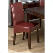 Jofran 888 Series Red Bonded Leather Parson Chair (Set of 2)