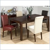 Jofran 888 Series 5 Piece Casual Dining Table Set in Carlsbad Cherry