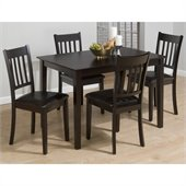 Jofran 891 Series 5 Piece Casual Dining Table Set in Merlot Finish