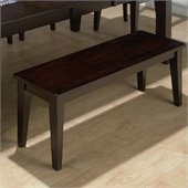 Jofran 972 Series Backless Wood Dining Bench in Dark Rustic Prairie