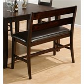 Jofran 972 Series Counter Height Dining Bench in Dark Rustic Prairie