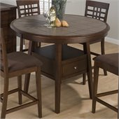 Jofran 976 Series Round Counter Height Dining Table in Caleb Brown