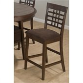 Jofran 976 Series Weaveback Counter Height Stool in Brown (Set of 2)
