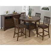 Jofran 976 Series 7 Piece Round Counter Height Dining Set in Brown