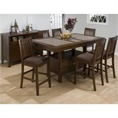 Jofran 976 Series 5 Piece Counter Height Dining Set in Caleb Brown