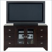 Jofran 044 Series TV Stand in Sonoma Merlot Finish