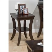 Jofran 328 Series Chairside Table in Joes Espresso Finish