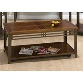 Jofran 536 Series Rectangle Cocktail Table in Barrington Cherry Finish