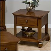 Jofran Killarny Square End Table in Cherry