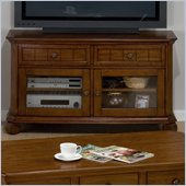 Jofran Killarny TV Stand with Tempered Glass in Cherry